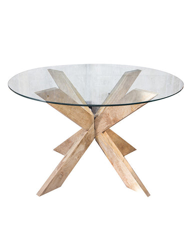 X-Leg Round Dining Table