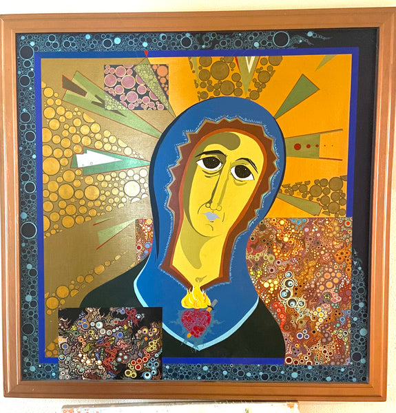Our Lady of Creativity, Amelia Caruso Original work on wood panel
