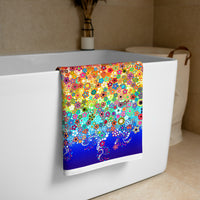 Effervescence Rainbow Bath Towel By Amelia Caruso