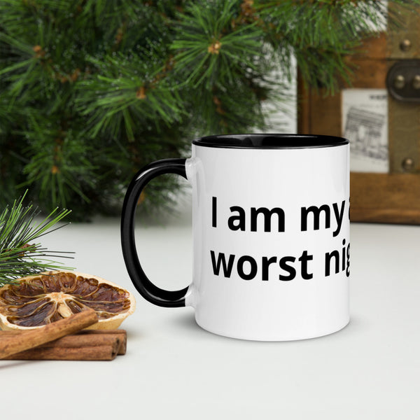 I am my ancestors' worst nightmare, Mug with black inside