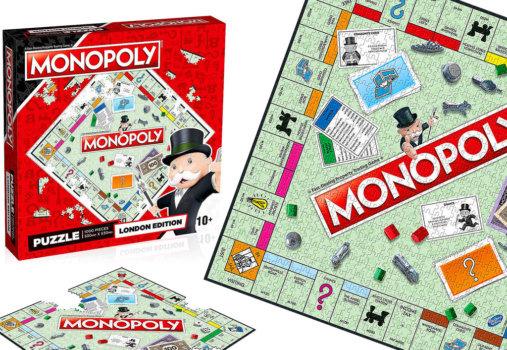 Give it a GO! Our 1000-piece Monopoly London Edition Jigsaw Puzzle Is A Game Changer!