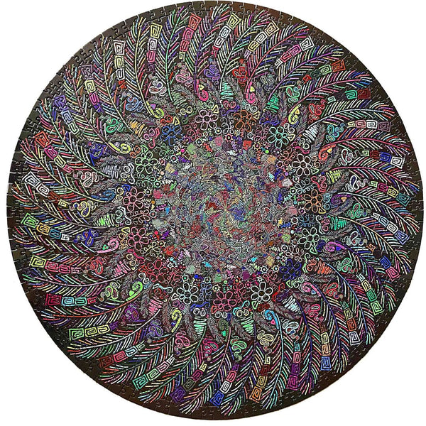 Rest In Pieces 1000-piece Round Colour Indian Feather Crest Jigsaw Puzzle