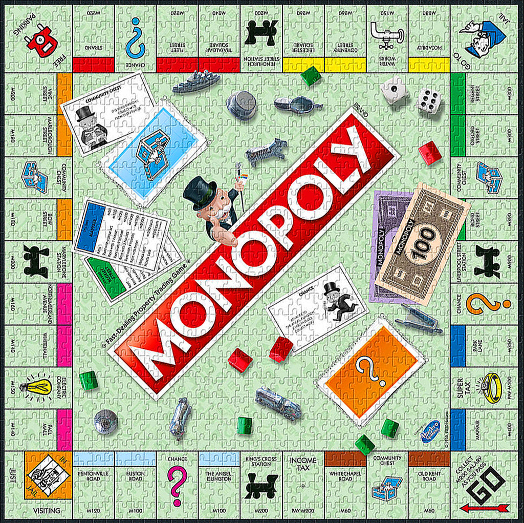 1000-piece Monopoly London Edition Jigsaw Puzzle