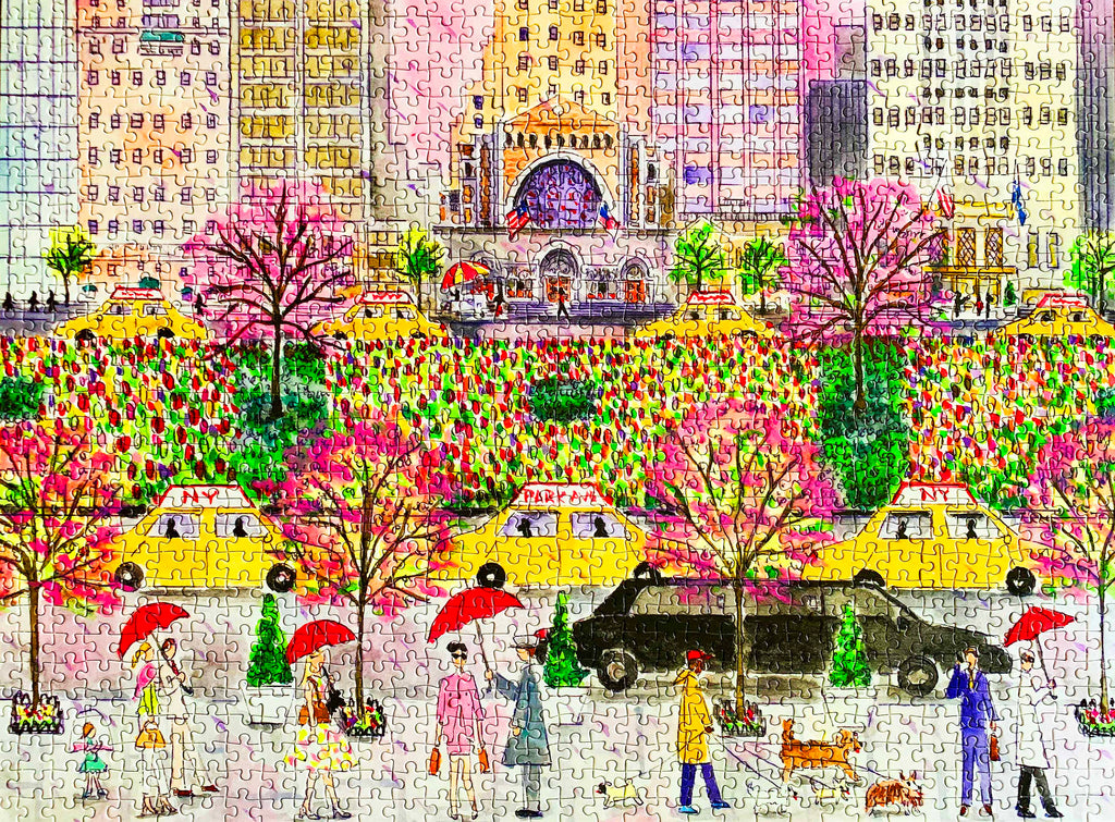 1000-piece Michael Storrings Spring on Park Avenue Jigsaw Puzzle - Rest In Pieces