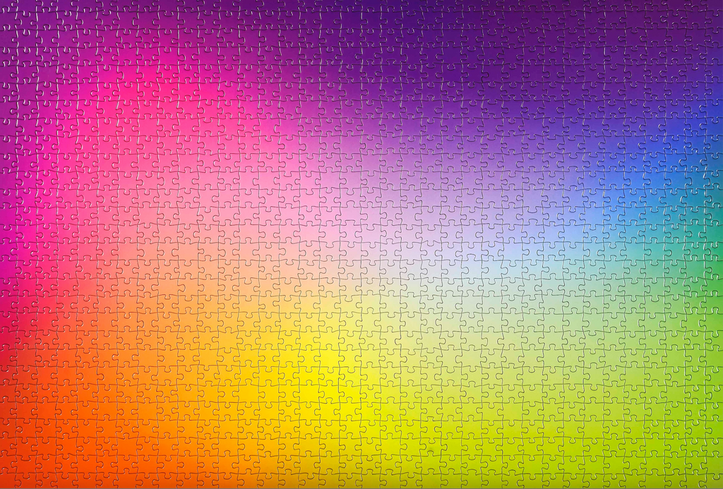 1000-piece Multicoloured Gradient Jigsaw Puzzle - Rest In Pieces
