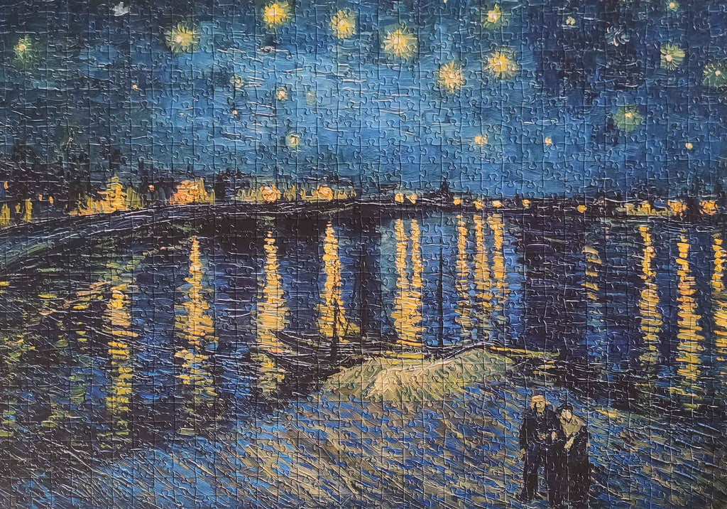 1000-piece Vincent Van Gogh Starry NiThe Rhone Jigsaw Puzzle | Rest In Pieces