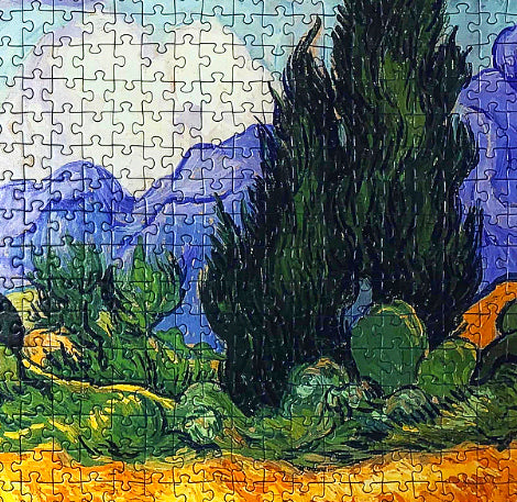 1,000-piece Vincent Van Gogh A Wheat Field, with Cypresses Jigsaw Puzzle | Rest In Pieces