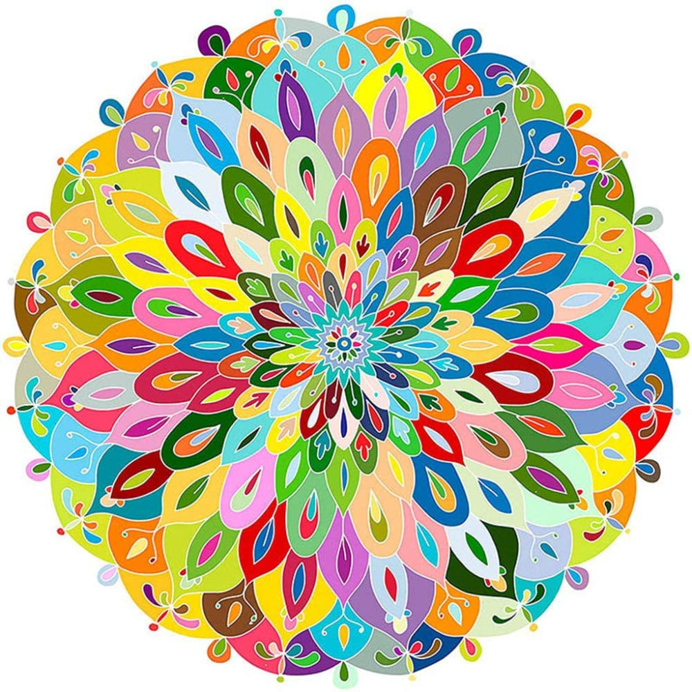 500-piece Round Colour Mandala Jigsaw Puzzle - Rest In Pieces