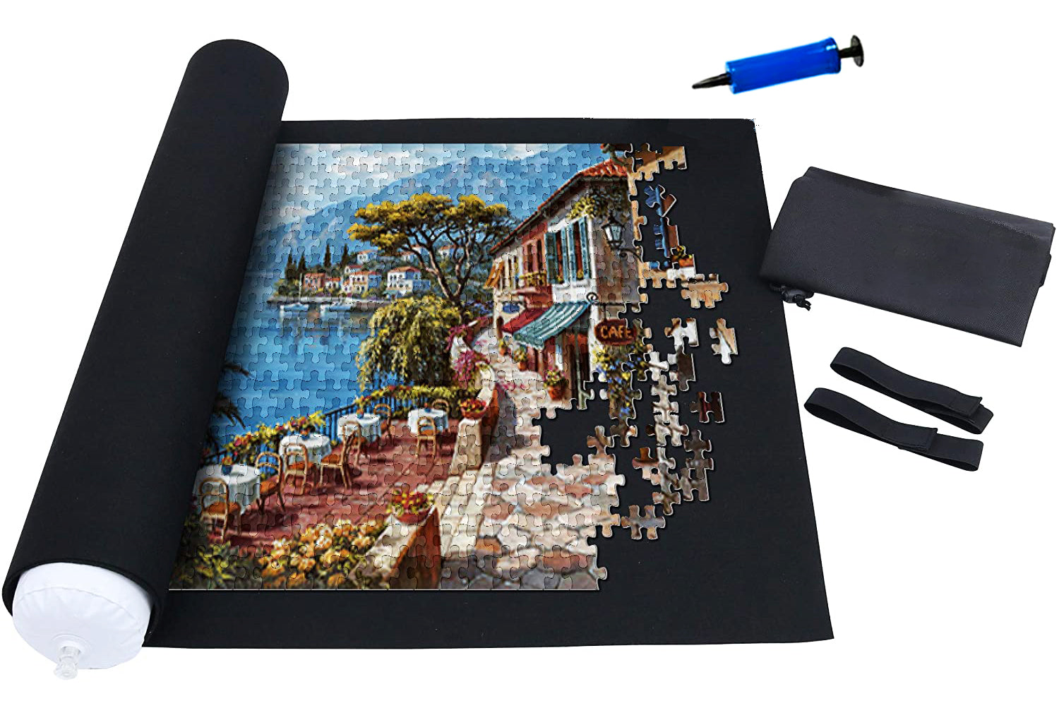 Jigsaw Puzzle Pause Roll Up Storage Mat Set - Rest In Pieces