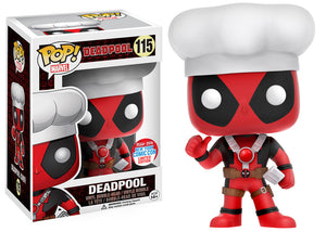 Deadpool Chef Funko Pop! Marvel New York Comic Con 2016 Exclusive Not Mint
