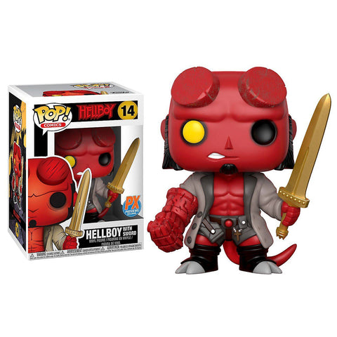 Hellboy with Excalibur Funko Pop! Comics Exclusive