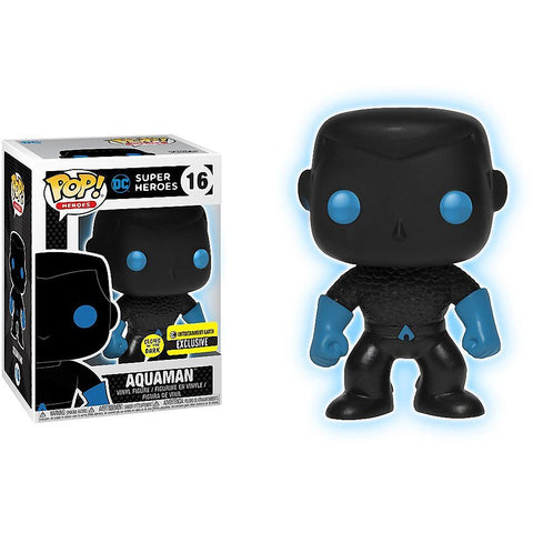Aquaman Silhouette Funko Pop! Heroes Glow in the Dark Exclusive