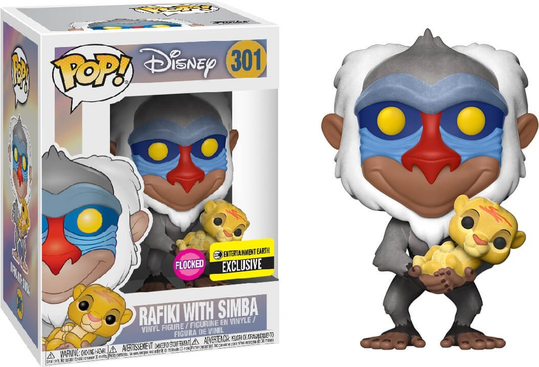 Rafiki with Simba Flocked Funko Pop! Disney The Lion King Exclusive