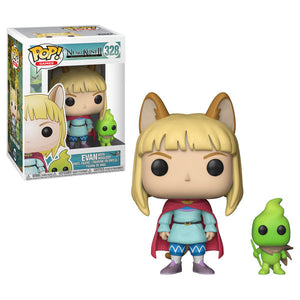 Evan with Higgledy Funko Pop! Games Ni No Kuni II