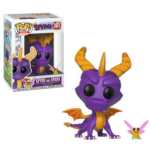 Spyro the Dragon and Sparx Funko Pop! Games