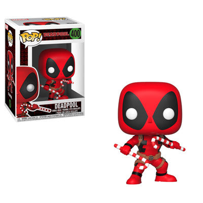Deadpool with Candy Canes Funko Pop 12 Days of Daxie