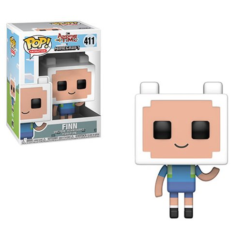 Finn Funko Pop! Animation Adventure Time Minecraft