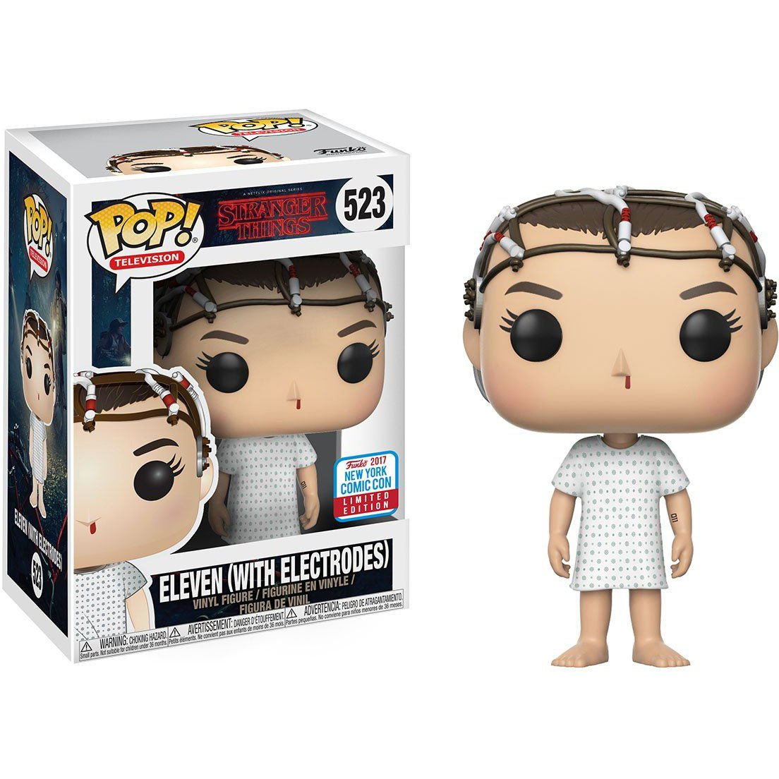 Eleven with Electrodes Funko Pop! Television Stranger Things Fall Convention 2017 Exclusive