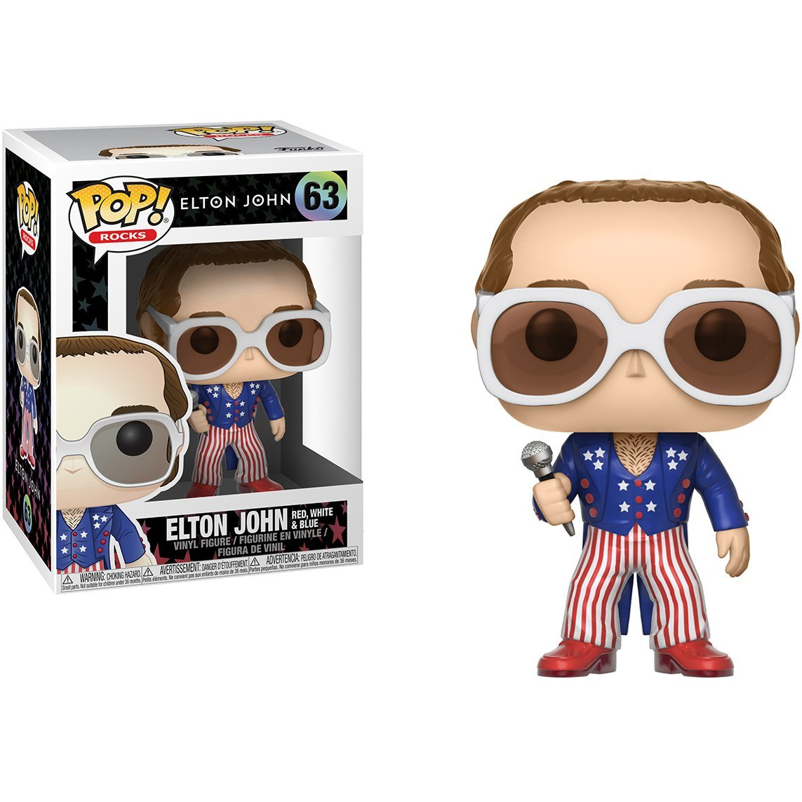 Elton John Red White and Blue Funko Pop! Rocks