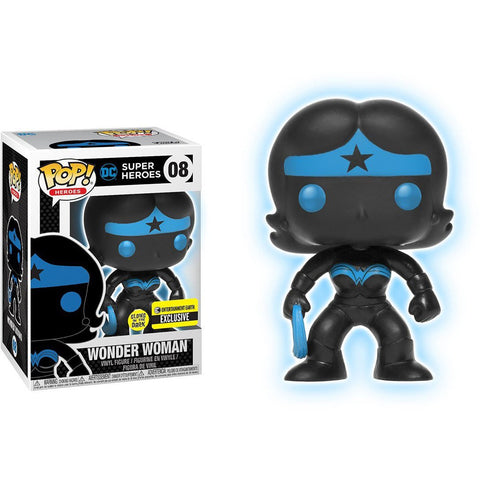Wonder Woman Silhouette Funko Pop! Heroes Glow in the Dark Exclusive