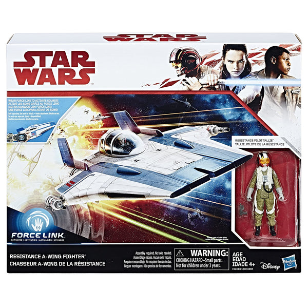 Resistance A-Wing & Pilot Tallie Star Wars The Last Jedi Vehicle