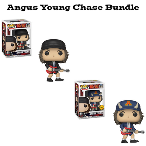 Angus Young Funko Pop! Rocks AC/DC Chase Bundle