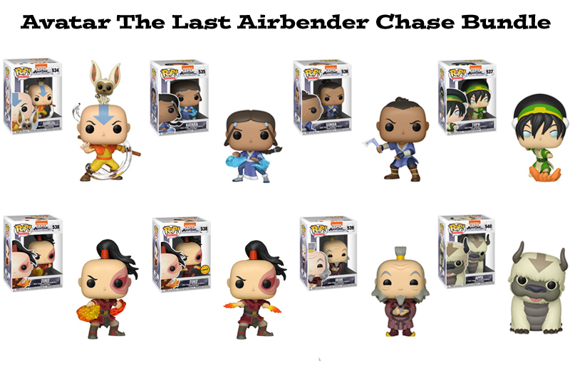 Avatar the Last Airbender Funko Pop Chase Bundle