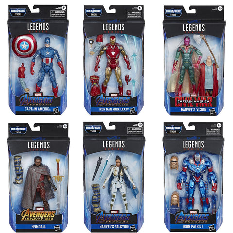 Avengers Endgame Marvel Legends Thor Build-A-Figure Set of 6