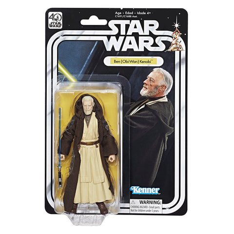 Ben Obi-Wan Kenobi Star Wars The Black Series 40th Anniversary 6-Inch