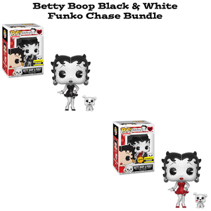 Betty Boop and Pudgy Black and White Funko Pop Animation Exclusive Chase Bundle