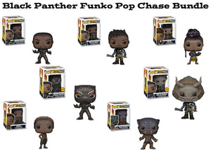 Black Panther Funko Pop! Marvel Chase Bundle