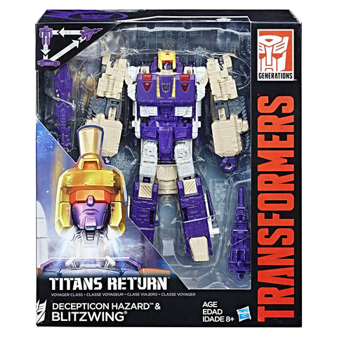 Blitzwing & Hazard Transformers Generations Titans Return Voyager Class