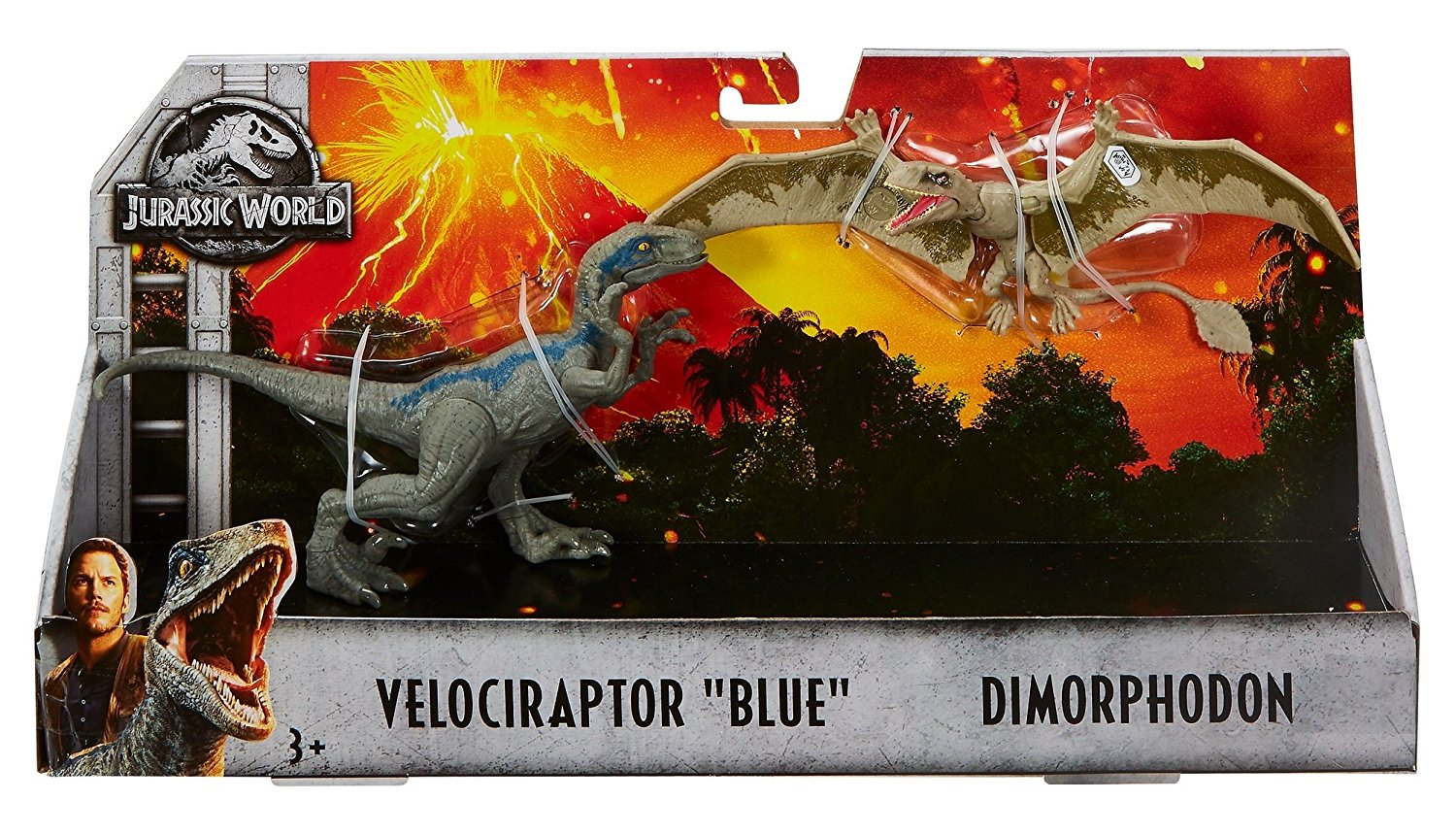 Velociraptor Blue and Dimorphodon Jurassic World 2-Pack