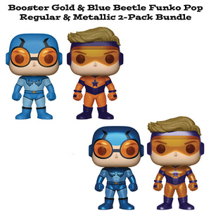 Booster Gold & Blue Beetle Funko Pop! Heroes 2-Pack Bundle