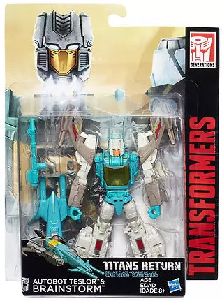 Brainstorm & Teslor Transformers Generations Titans Return Deluxe Class Warehouse Sale