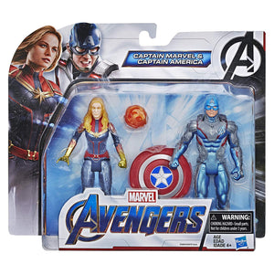 Captain Marvel and Captain America Avengers Endgame 6-Inch Figure 2-Pack