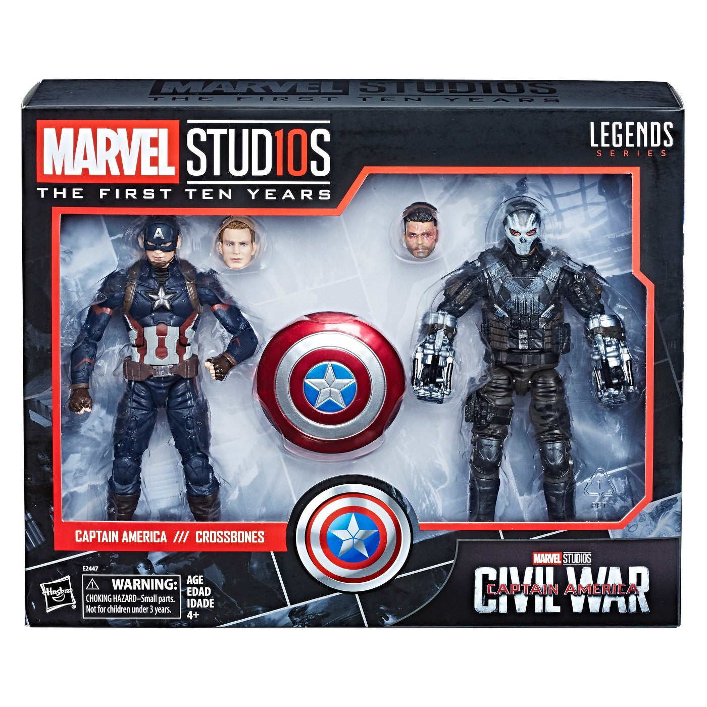 Captain America and Crossbones Marvel Studios The First Ten Years 6-Inch Action Figure 2-Pack
