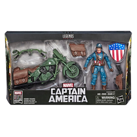 Captain America with Motorcycle Marvel Legends 6-Inch Action Figure
