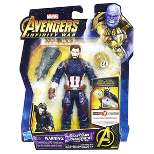 Captain America with Infinity Stone Marvel Avengers Infinity War Action Figure