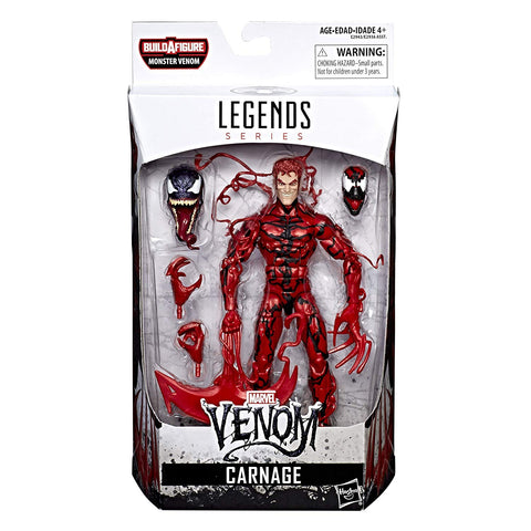 Carnage Marvel Legends 6-Inch Action Figure Monster Venom Build-A-Figure Wave