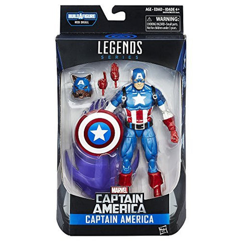 Captain America Marvel Legends 6-Inch Action Figure Red Skull Build-A-Figure Wave