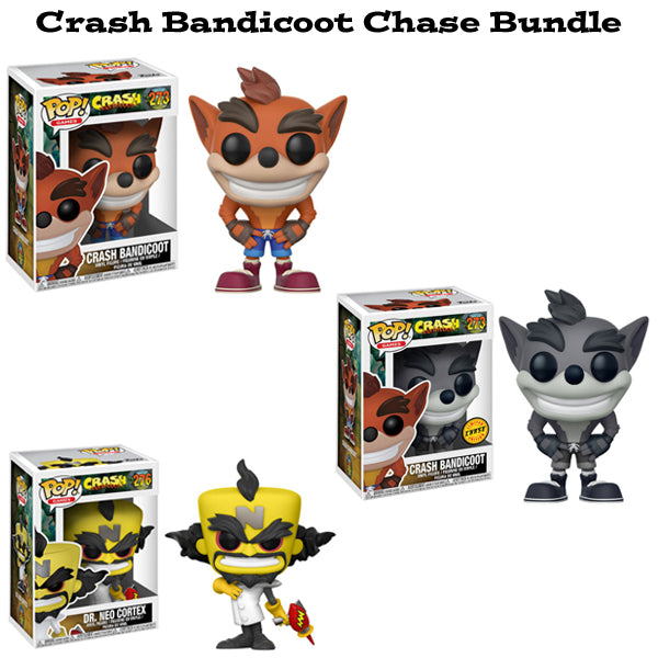 Crash Bandicoot Funko Pop! Games Chase Bundle