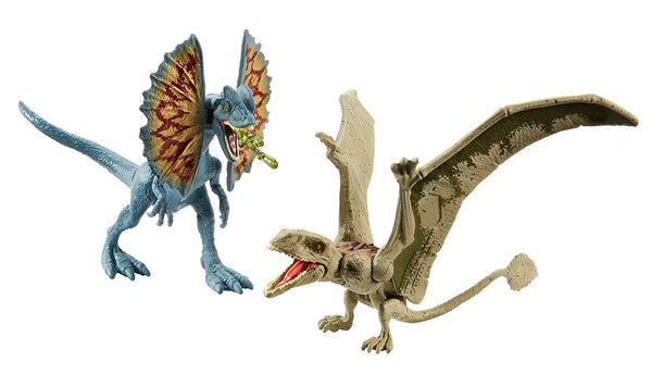Dilophosaurus and Dimorphodon Jurassic World 2-Pack