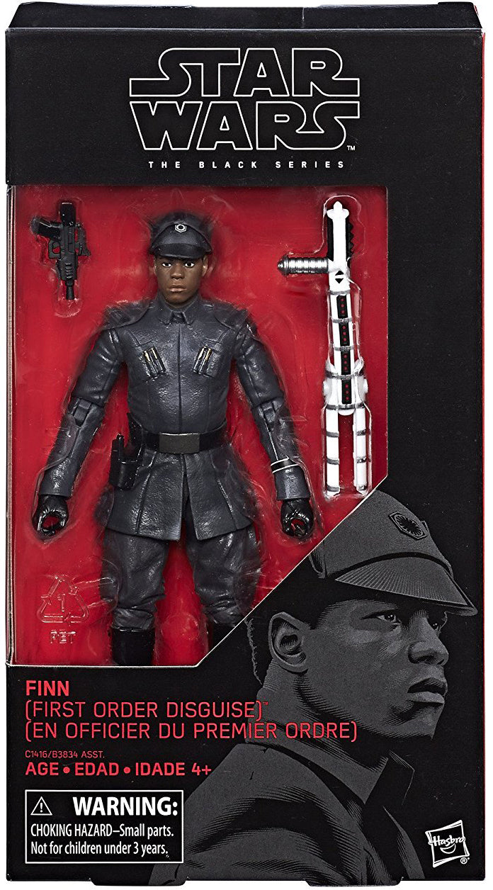 Finn First Order Disguise Star Wars The Last Jedi Black Series 6 Inch Figure
