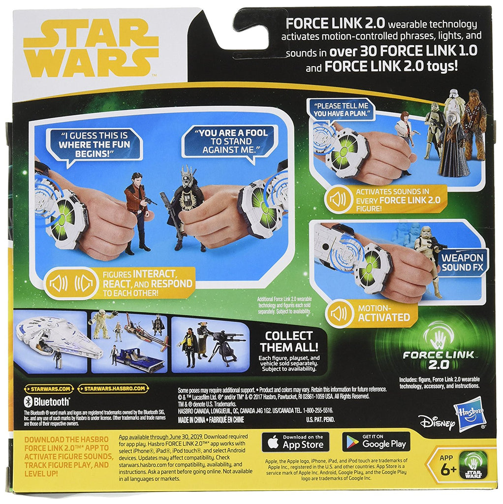 Action Figures Star Wars Force Link 2.0 Han Solo Starter Set Force Link Wearable Technology Other Action Figures