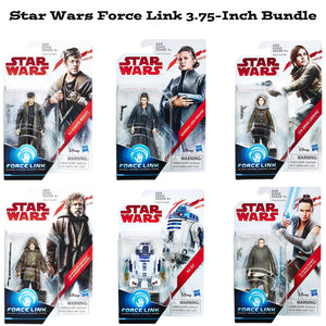 Star Wars Force Link 3.75 Inch Orange Wave 2 Action Figure Bundle