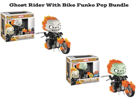 Ghost Rider with Bike Funko Pop Rides Exclusive Bundle