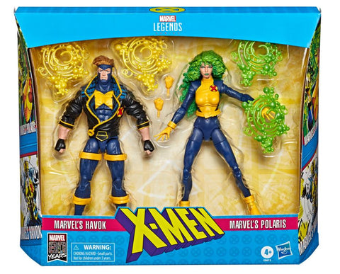 Havok and Polaris Marvel Legends 6-Inch Exclusive Action Figure 2-Pack