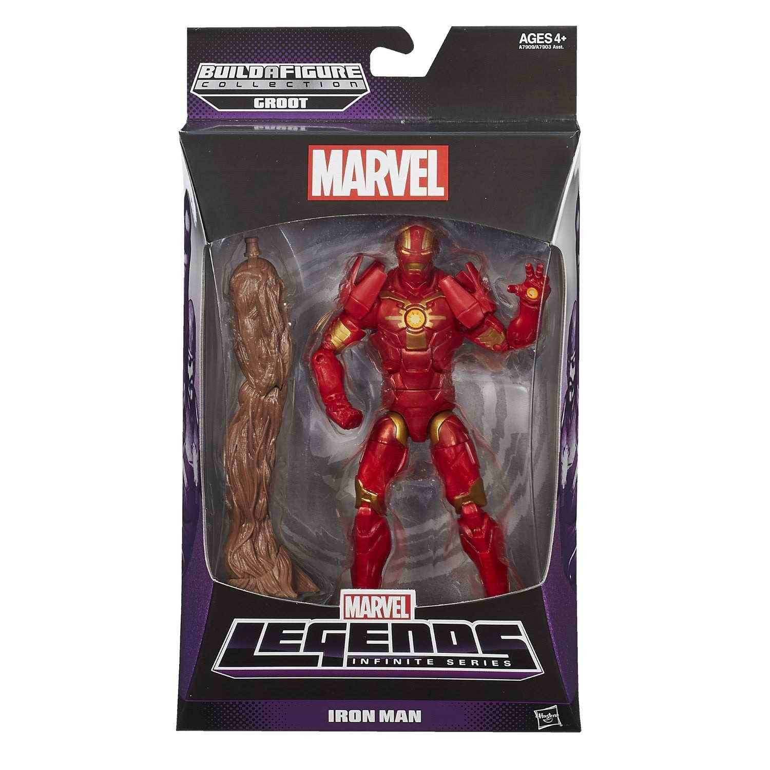 Iron Man Guardians Of The Galaxy Marvel Legends 6-Inch Action Figure Groot Build-A-Figure Wave