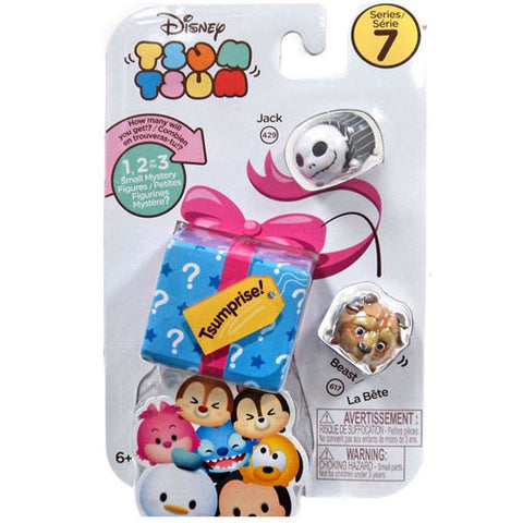 Jack Skellington and Beast Disney Tsum Tsum Series 7 Tsumprise 3-Pack